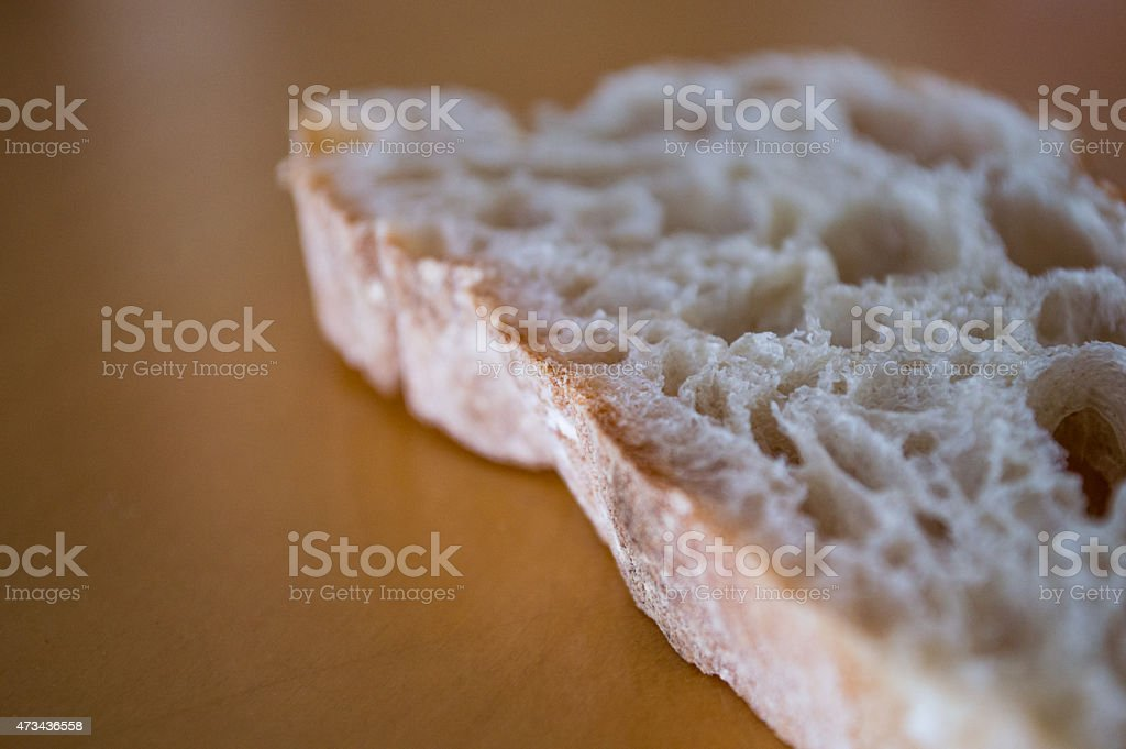 Slice of Rustic White Bread stock photo
