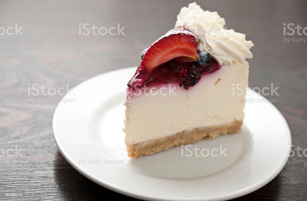 Slice of Strawberry Cheescake royalty-free stock photo