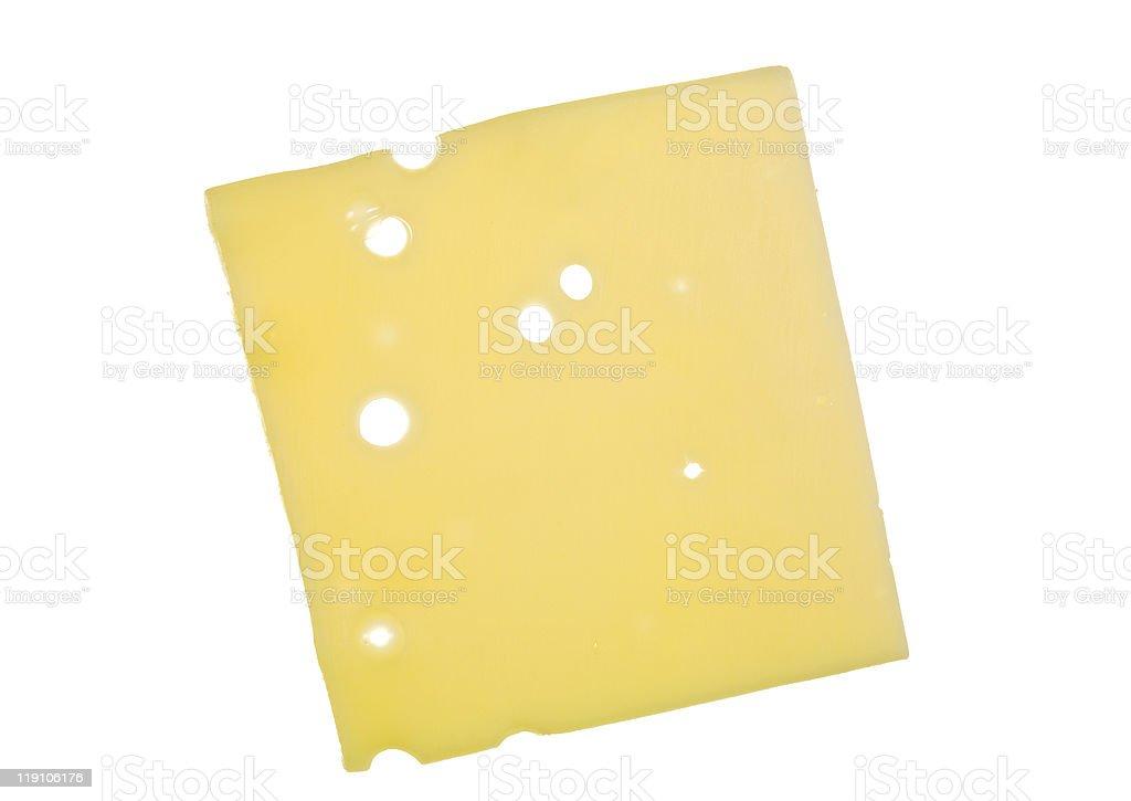 Slice of Swiss Cheese stock photo