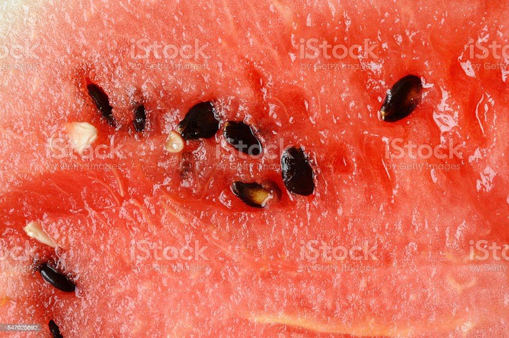 Slice of watermelon in macro stock photo