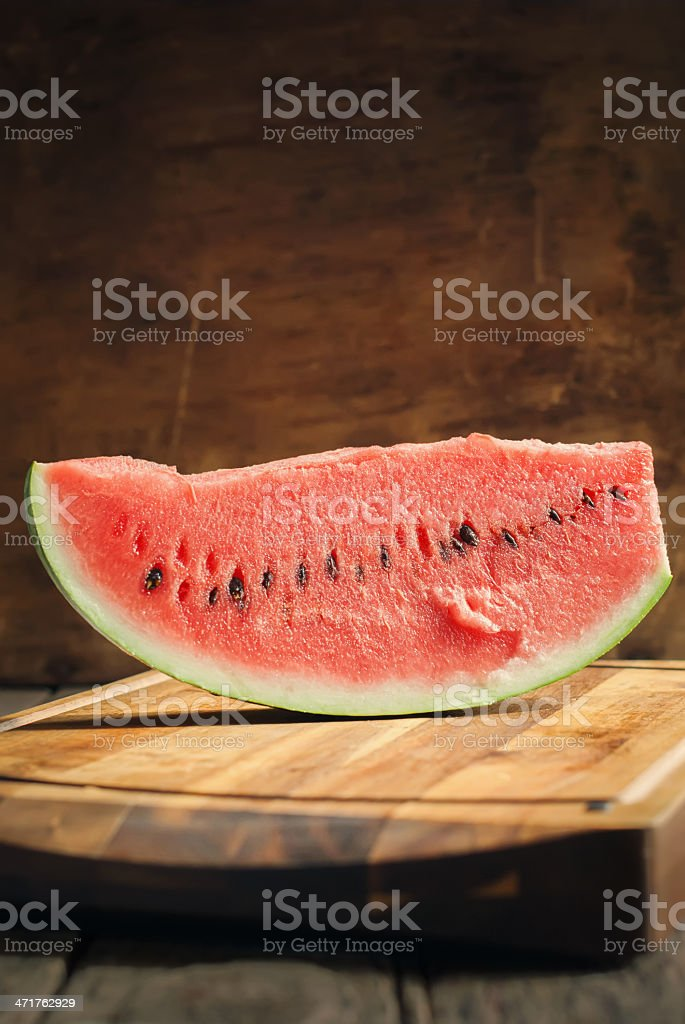 Slice of Water-melon on a tray royalty-free stock photo