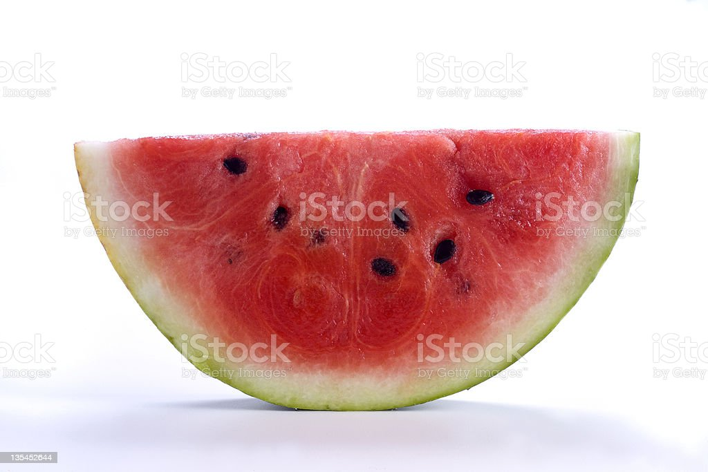 Slice of Watermelon on white royalty-free stock photo