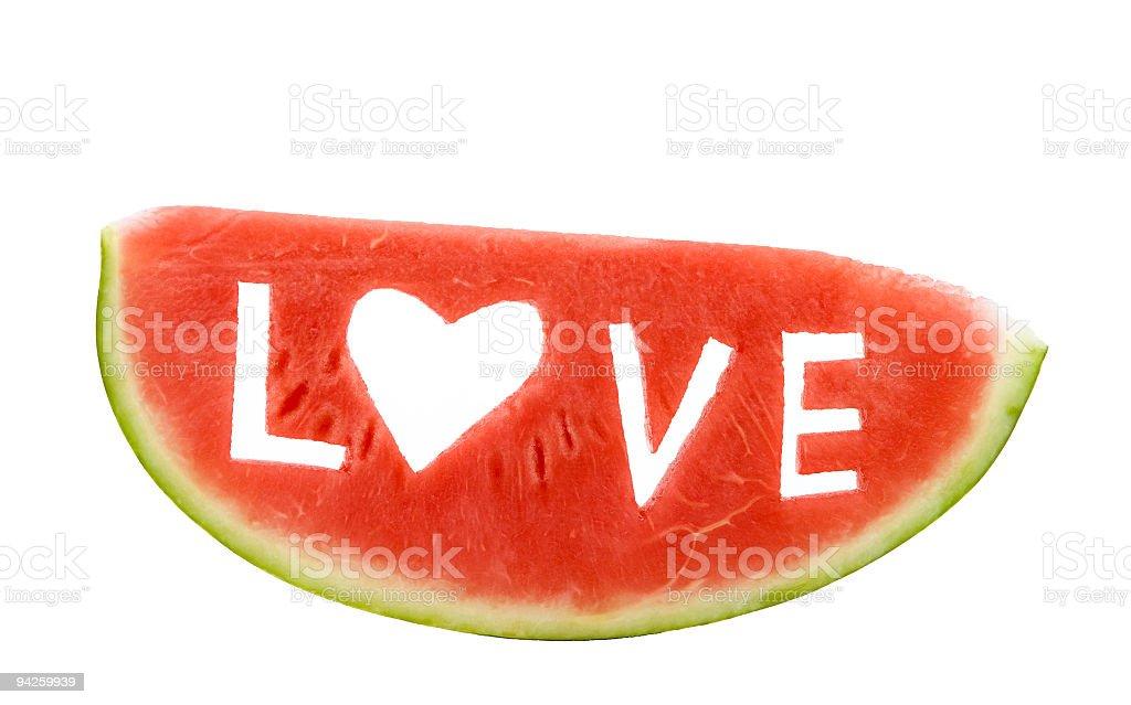 Slice of Watermelon on white royalty-free stock photo