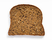 slice of wheat bread Rye Bread with butter isolated