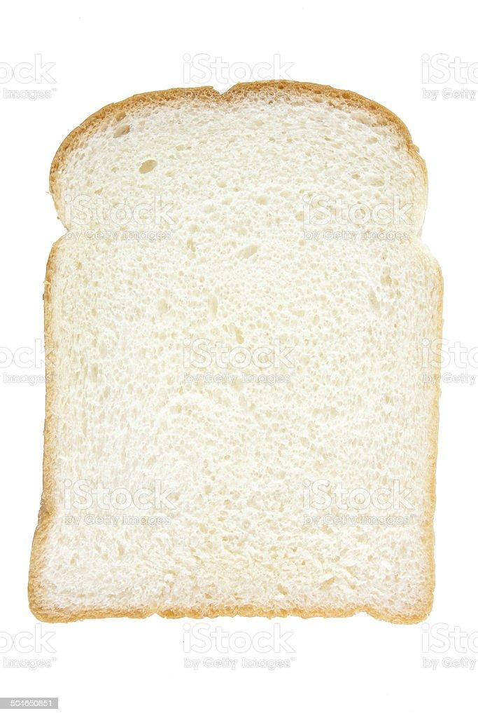Slice of White Bread stock photo