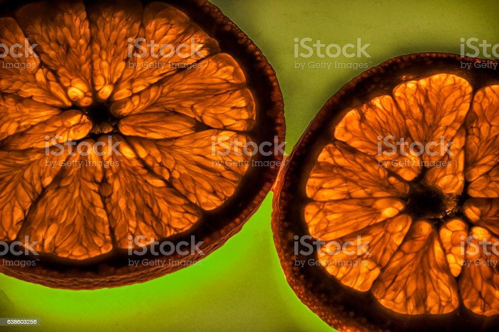 Slice Orange Luminous stock photo