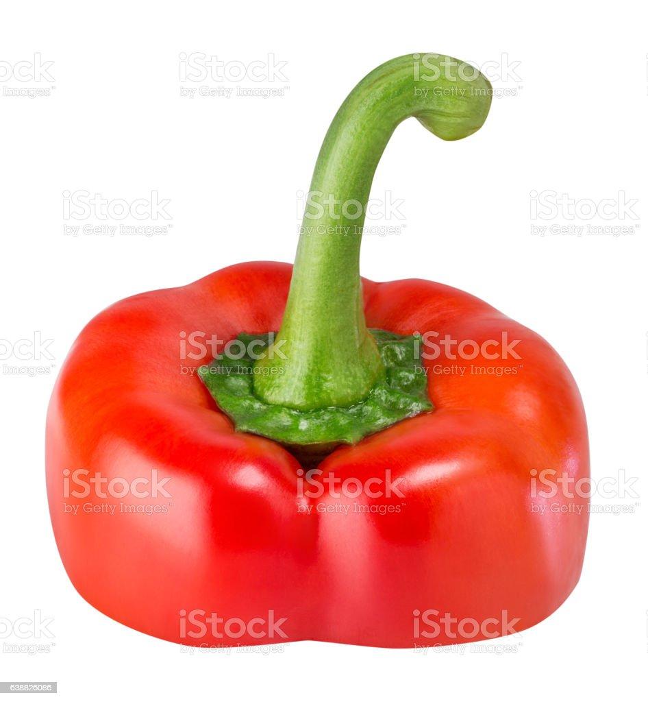 Slice pepper isolated on white background stock photo