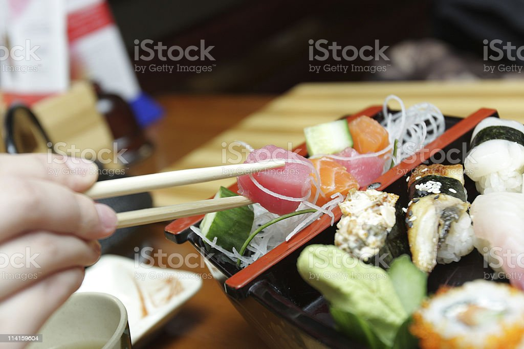 Slice row fish royalty-free stock photo