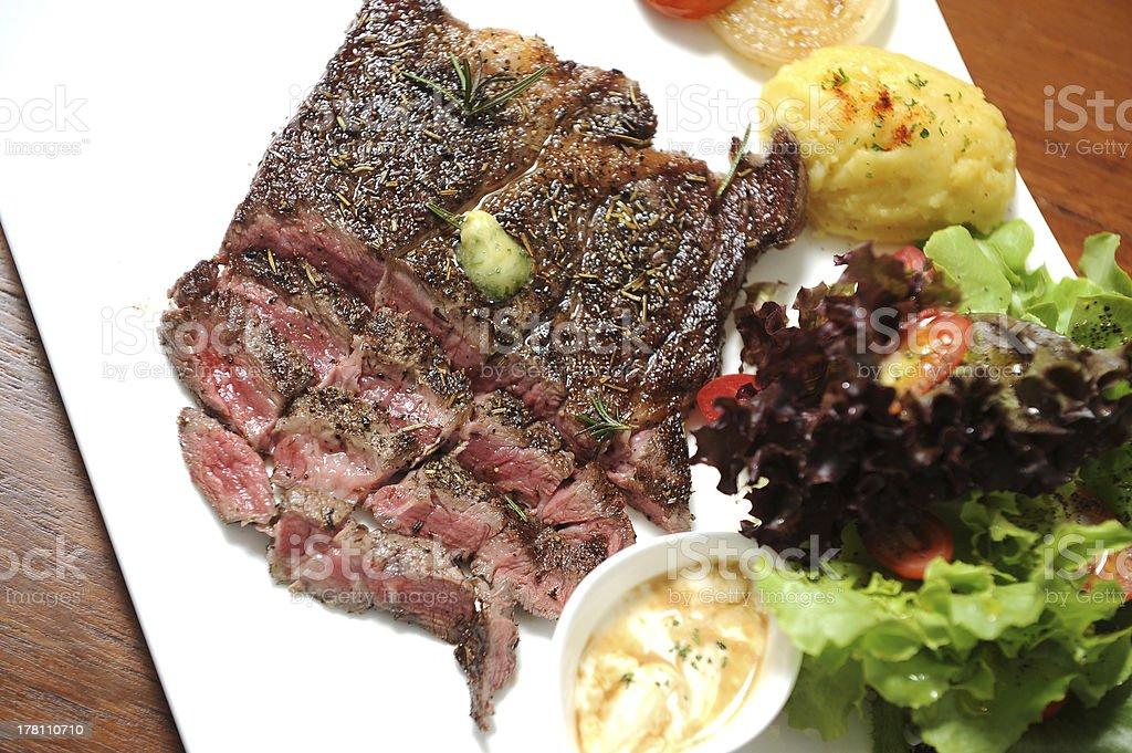slice steak royalty-free stock photo