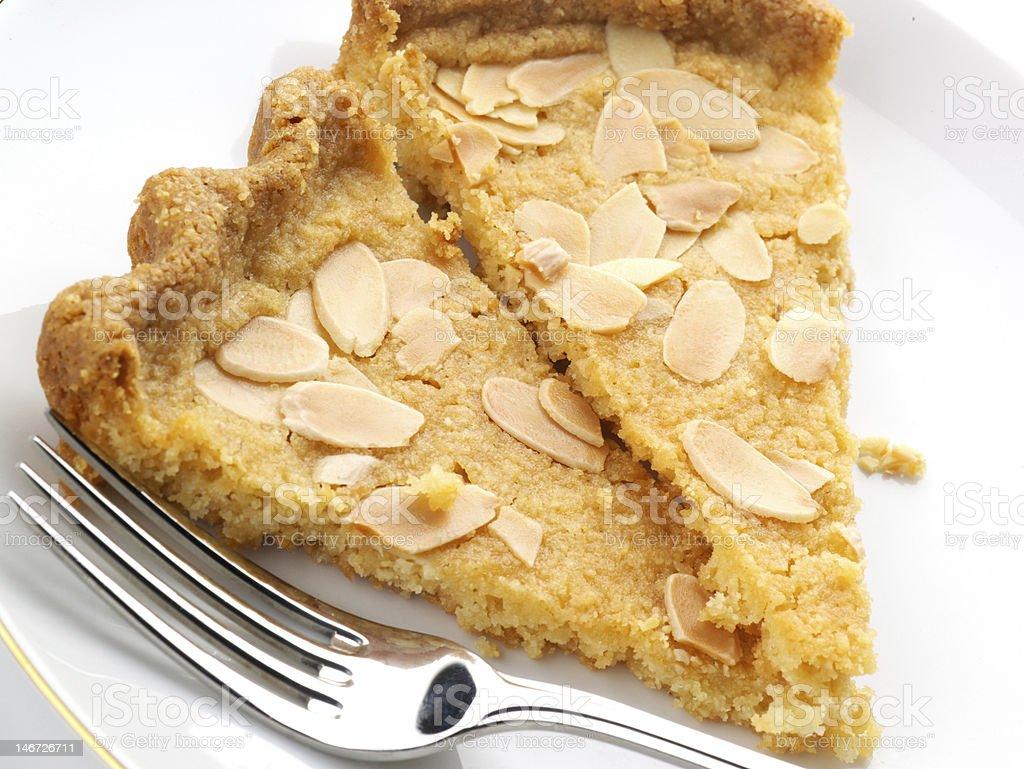 Sliced Almond Shortbread royalty-free stock photo