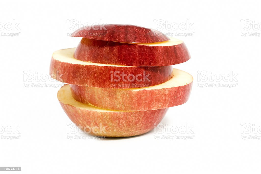 Sliced apple royalty-free stock photo