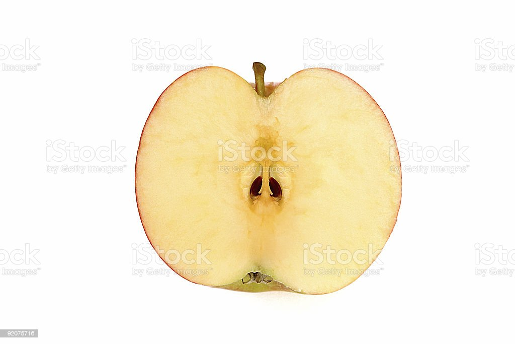 Sliced apple stock photo