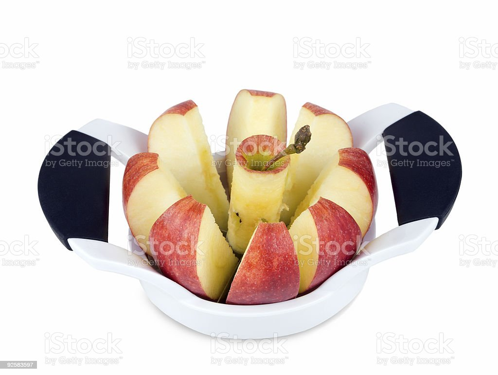 Sliced apple royalty-free stock photo