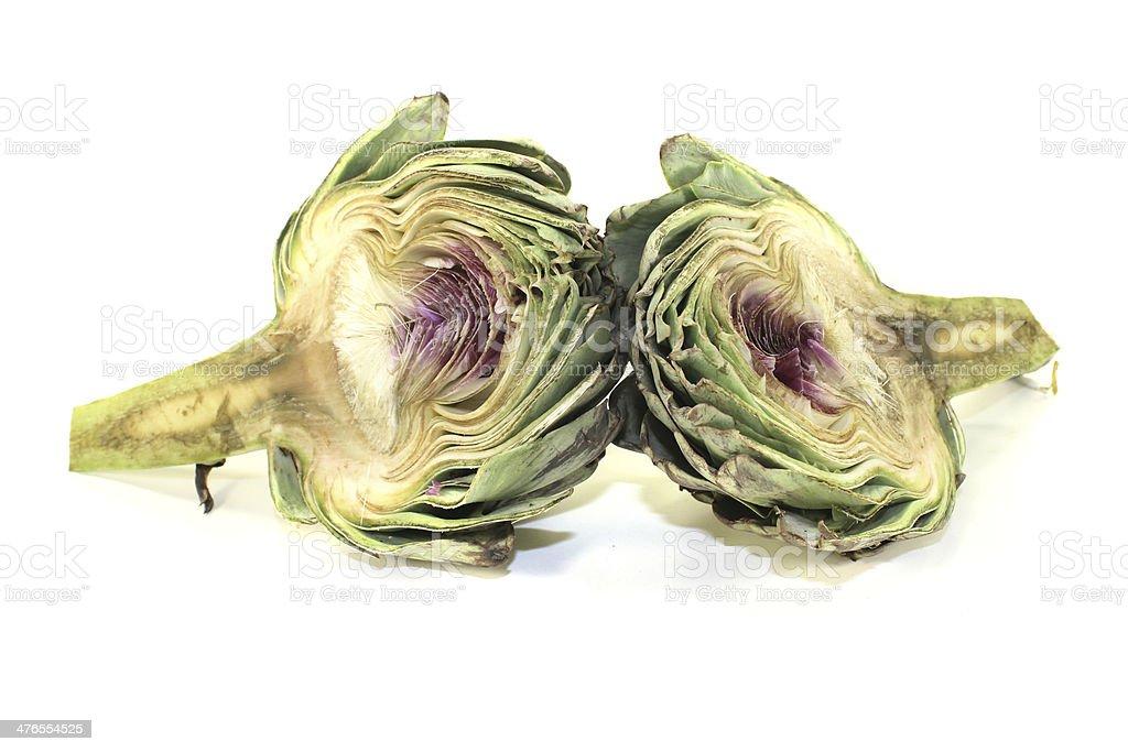 sliced artichoke royalty-free stock photo