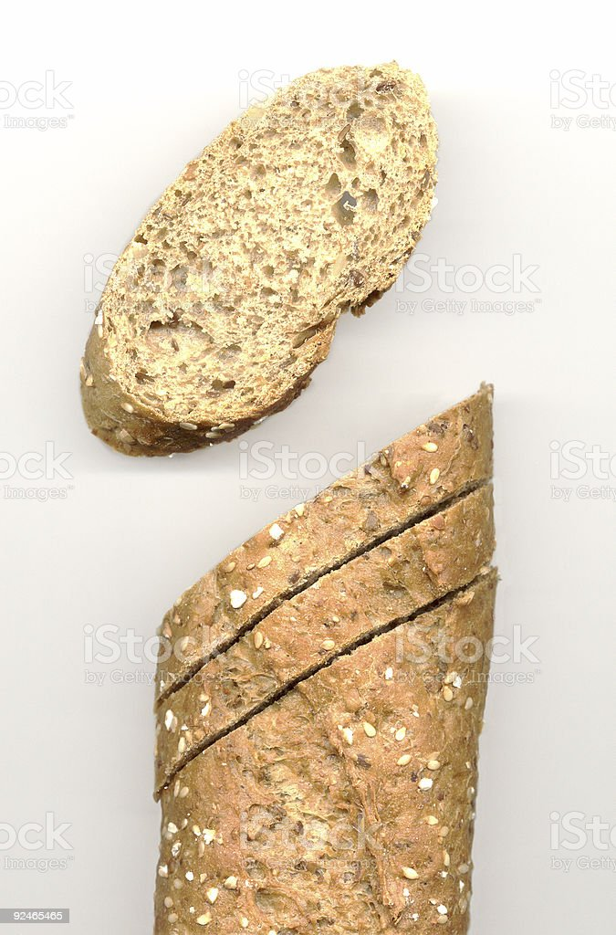 Sliced baguette royalty-free stock photo