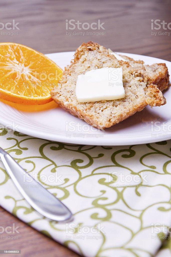 Sliced Banana Bread royalty-free stock photo