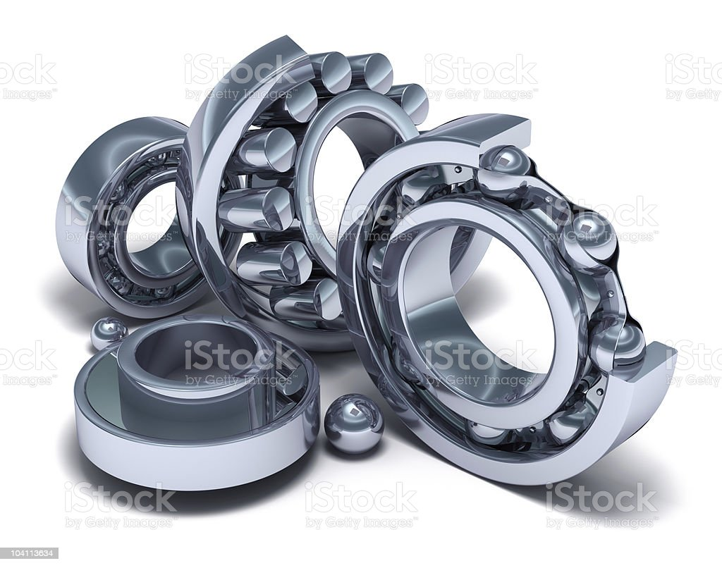 Sliced Bearings and details royalty-free stock photo