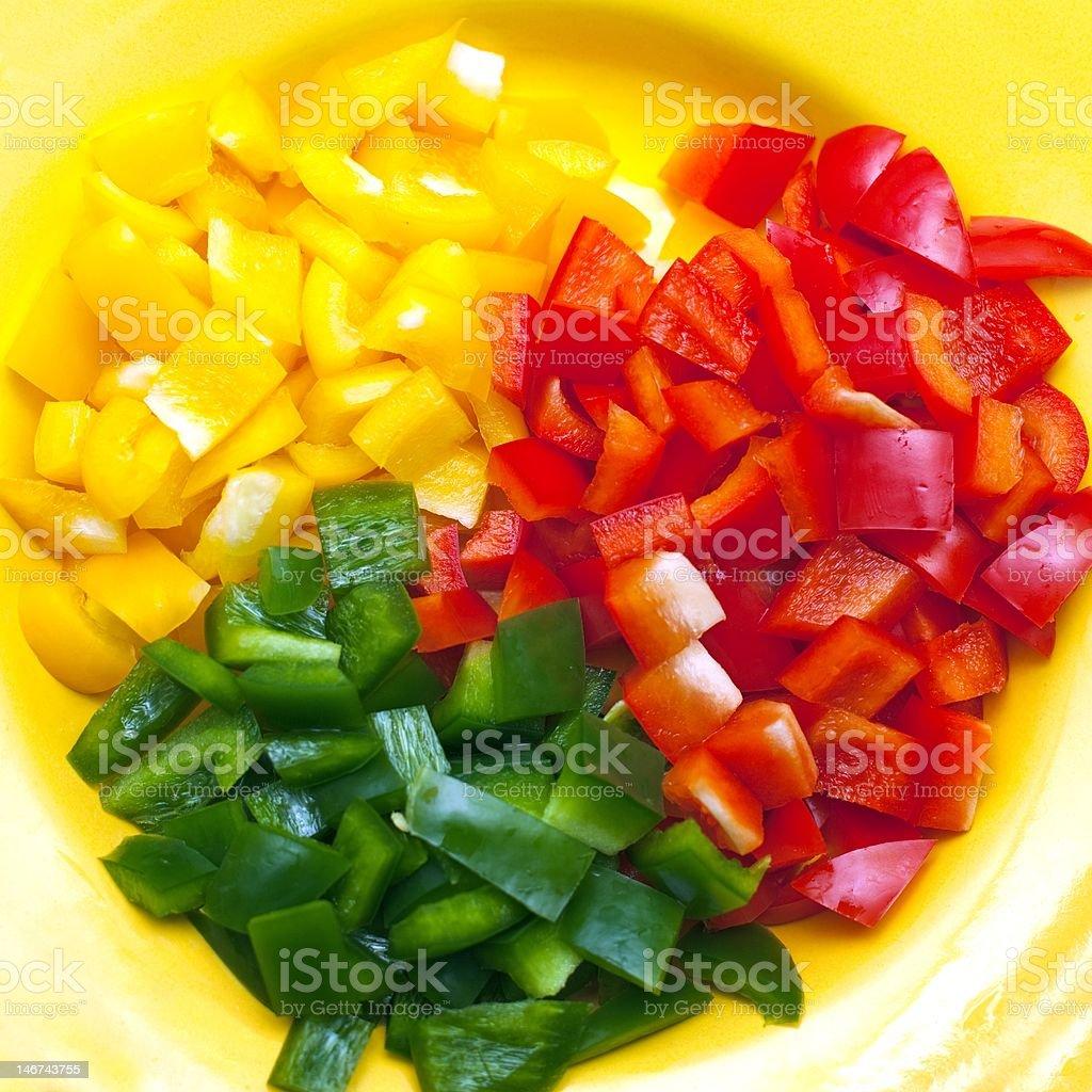 Sliced bell pepper royalty-free stock photo