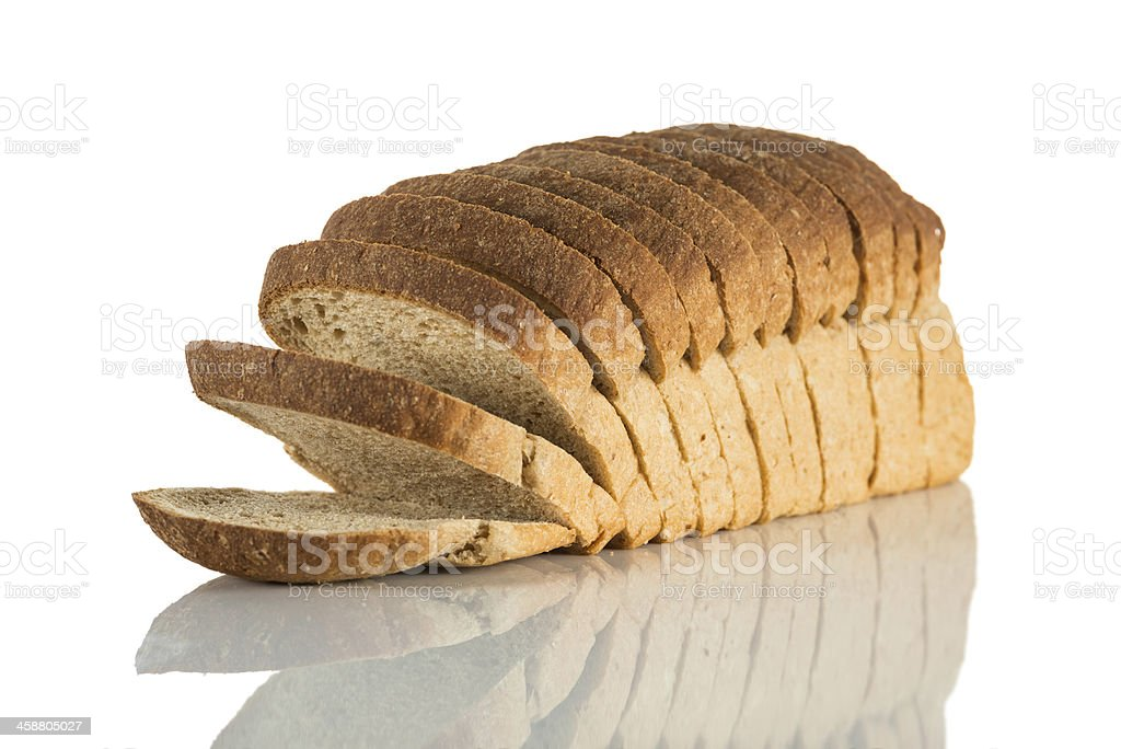 Sliced bread loaf stock photo