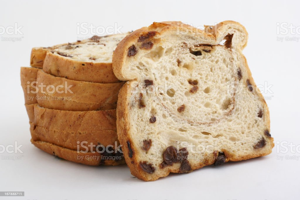 A sliced bread with a white background stock photo