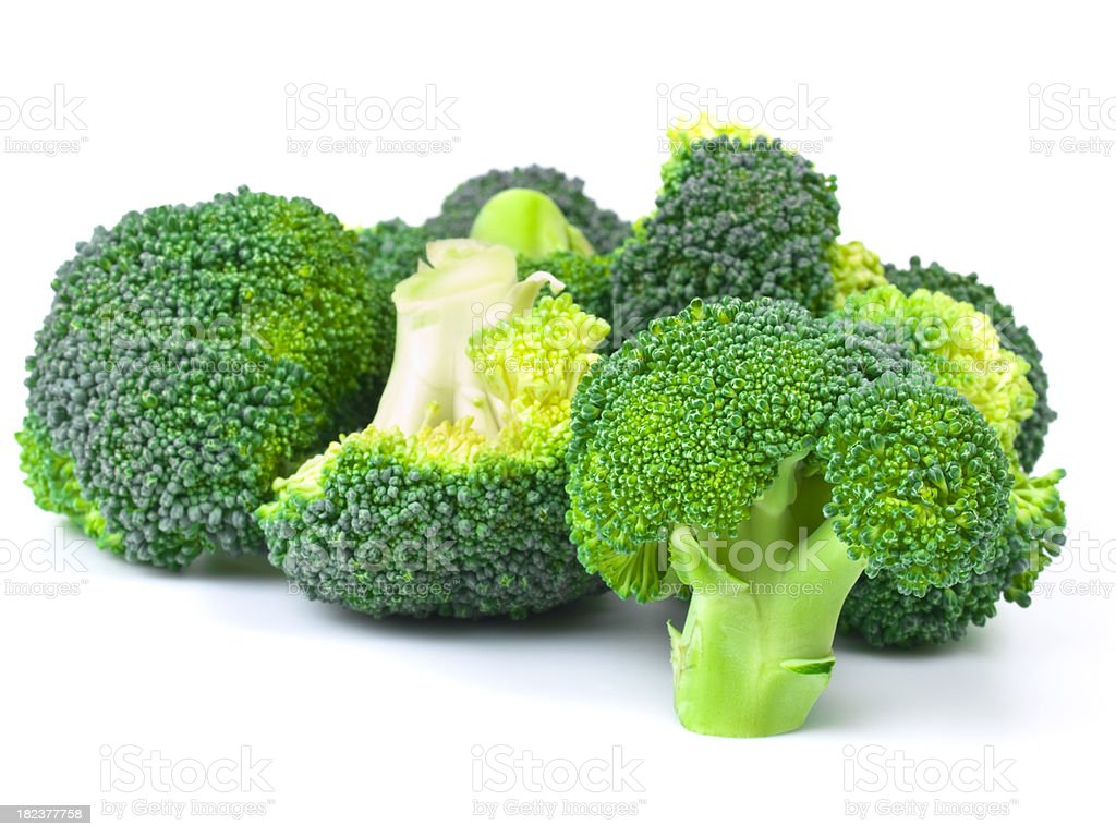 sliced broccoli royalty-free stock photo