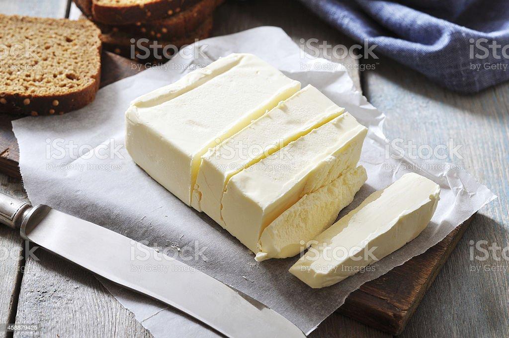 Sliced butter stock photo