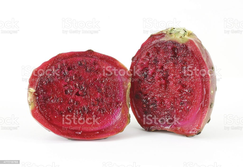 Sliced cactus pear stock photo