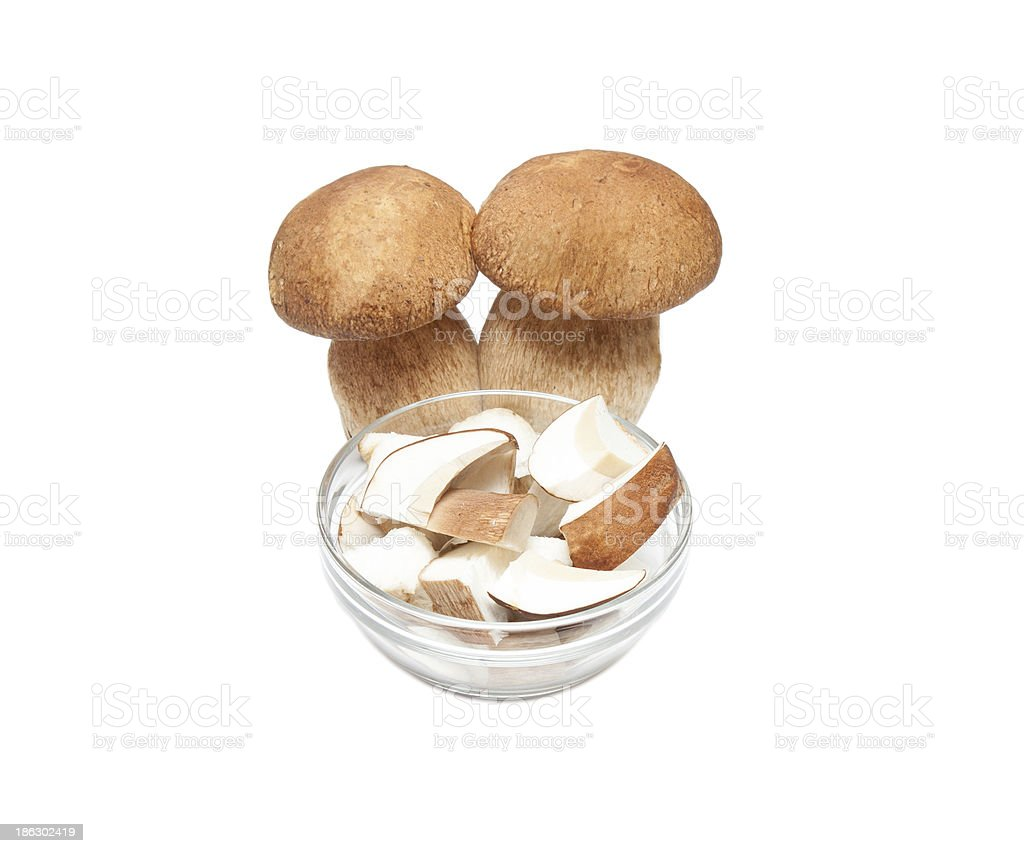 Sliced cep royalty-free stock photo