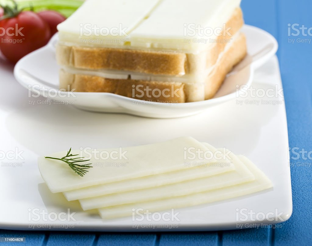 sliced cheddar cheese royalty-free stock photo