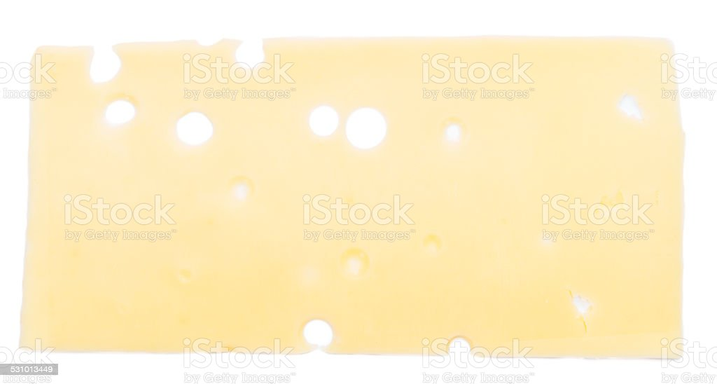 Sliced Cheese (isolated on white) stock photo