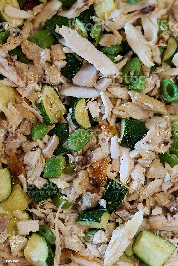 Fette di pollo Mix di fagioli foto stock royalty-free
