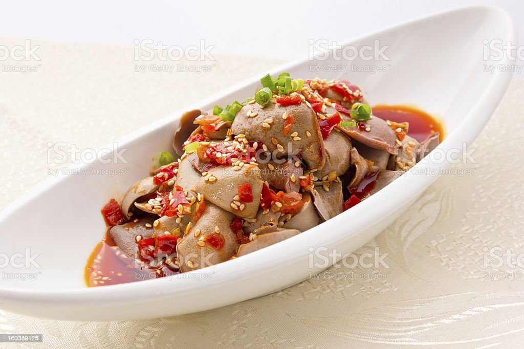 Sliced Chilli Sauce royalty-free stock photo