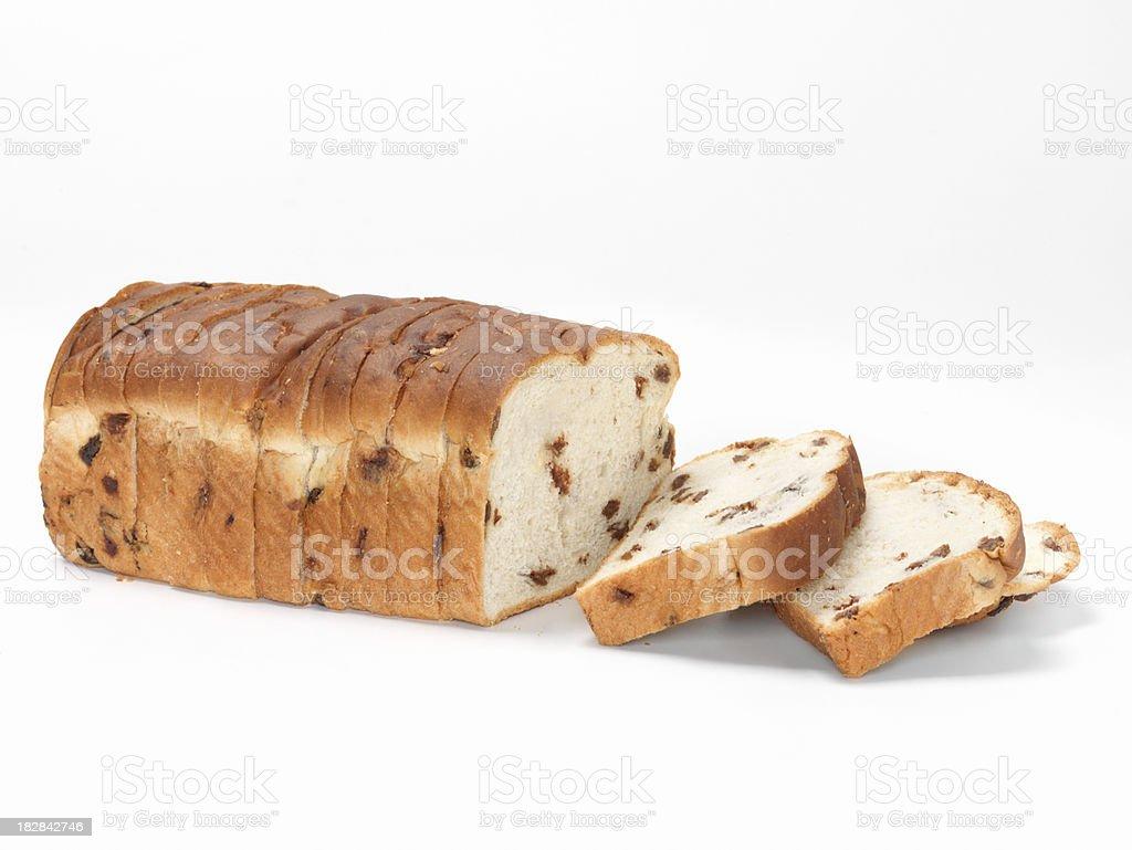 Sliced Cinnamon Raisin Bread stock photo