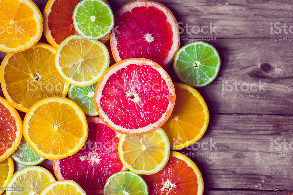 Sliced citrus stock photo