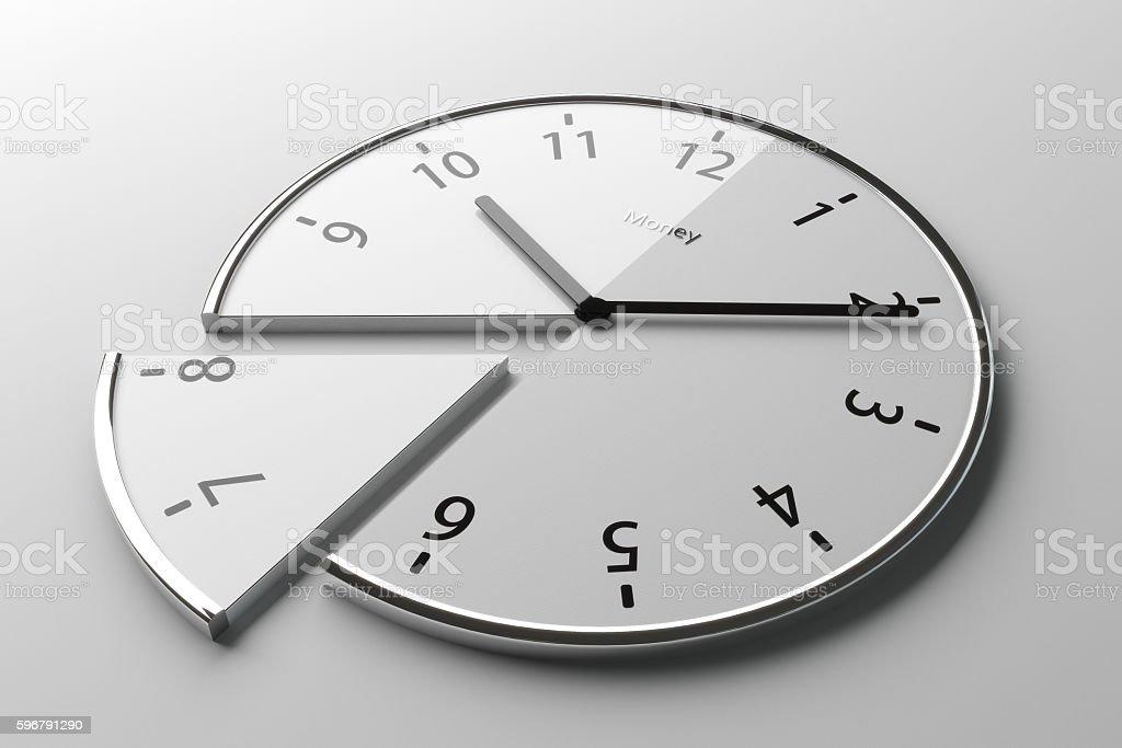 Sliced clock stock photo