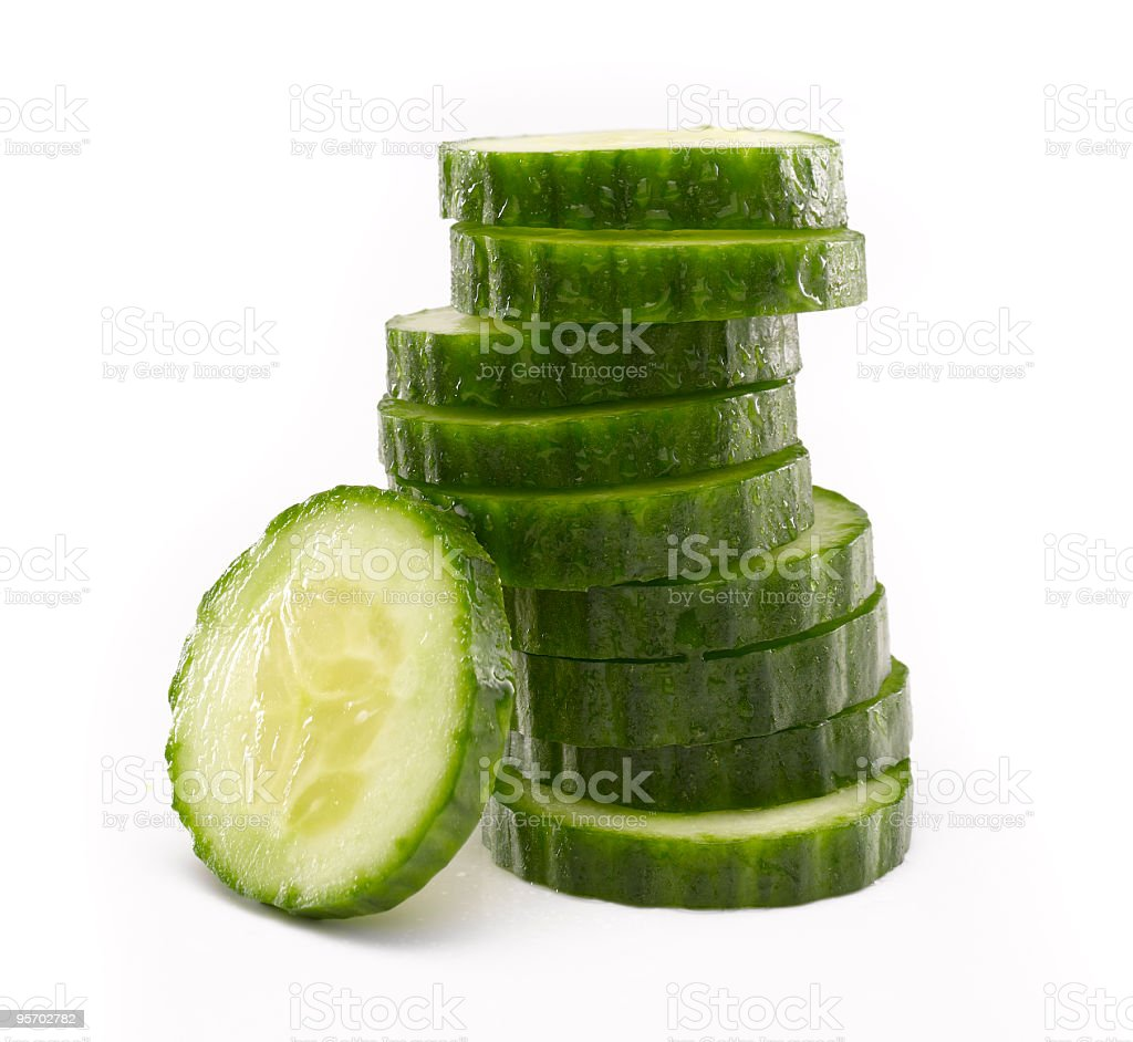 Sliced Cucumber in Stack royalty-free stock photo