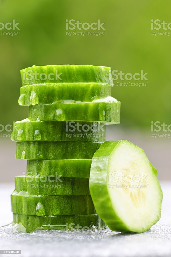 Sliced cucumber royalty-free stock photo