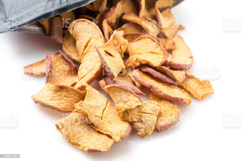 Sliced dried apple stock photo