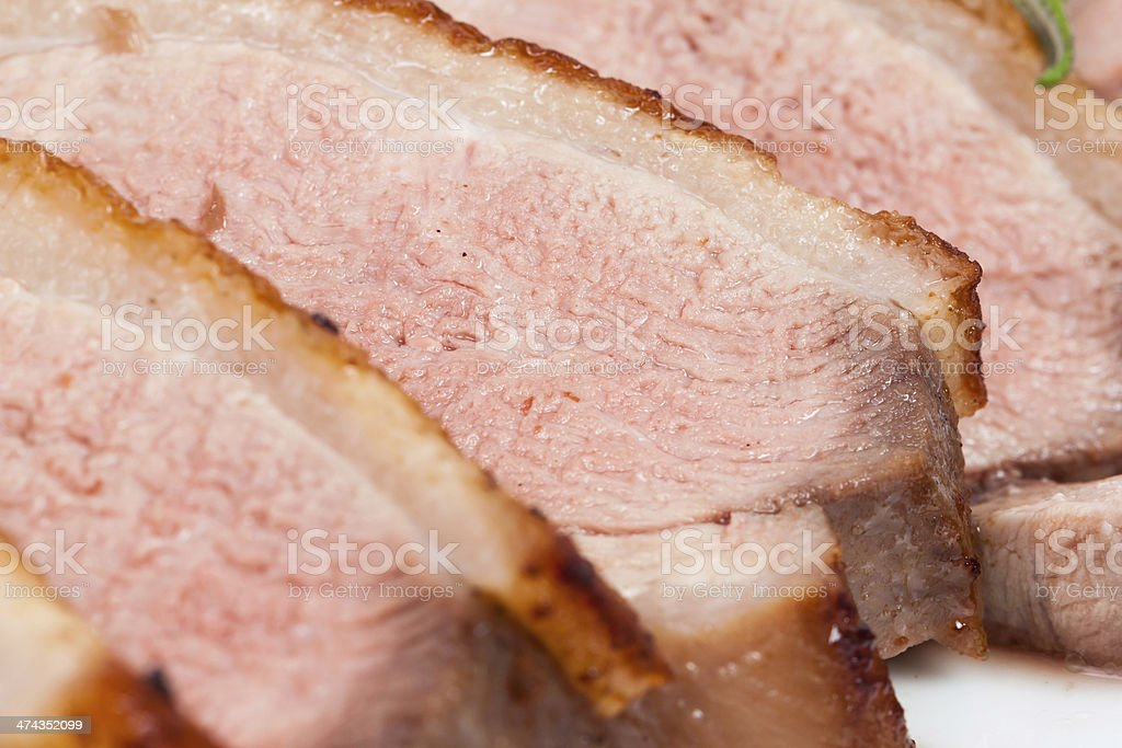 sliced duck breast royalty-free stock photo