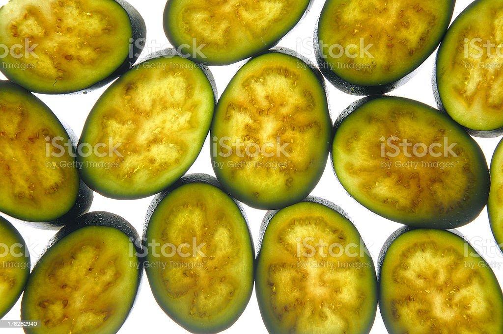 sliced eggplant royalty-free stock photo