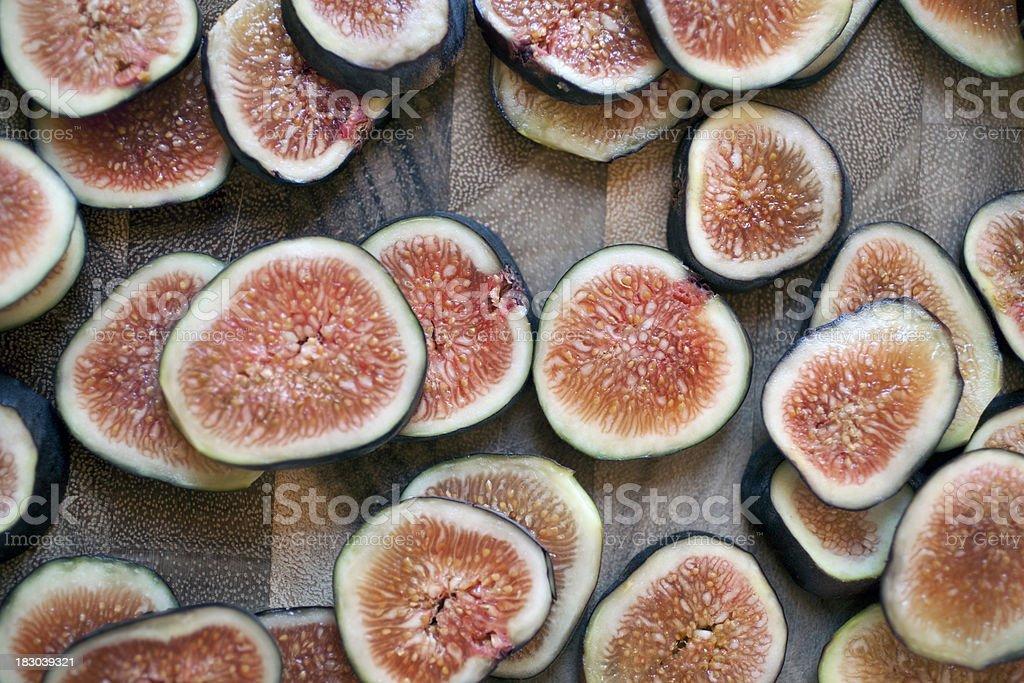 Sliced fresh figs royalty-free stock photo