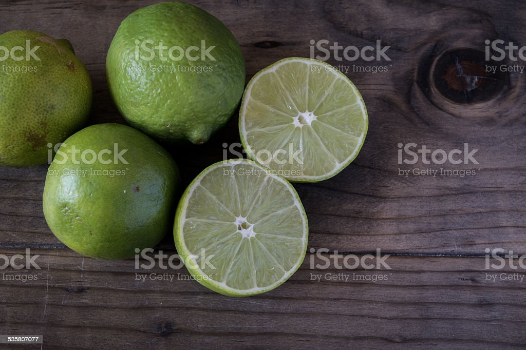 Sliced Fresh Limes stock photo