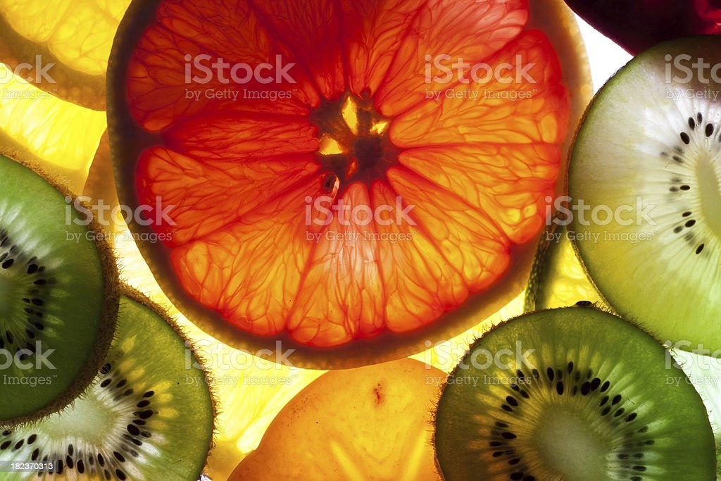 sliced fruits royalty-free stock photo