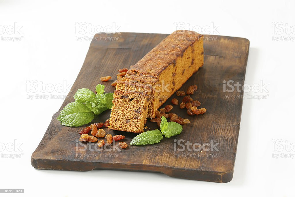 sliced gingerbread cake royalty-free stock photo