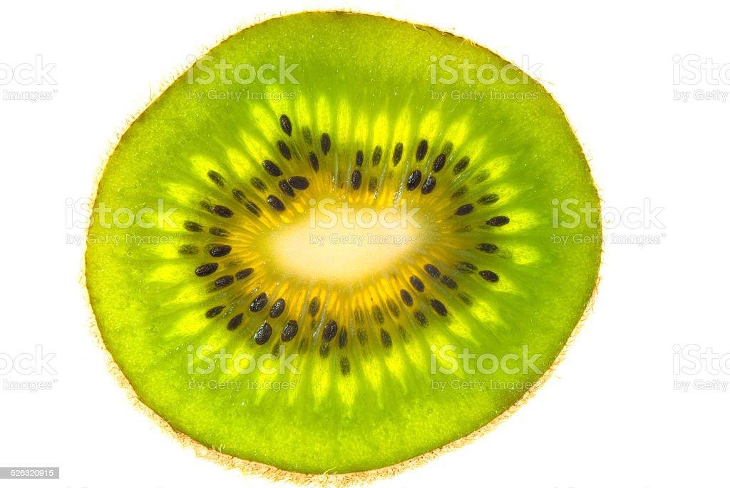 Sliced golden kiwifruit stock photo