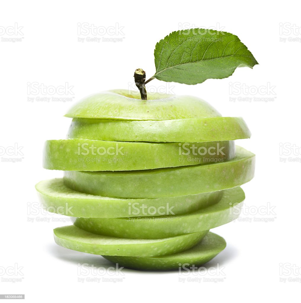 Sliced Green Apple royalty-free stock photo