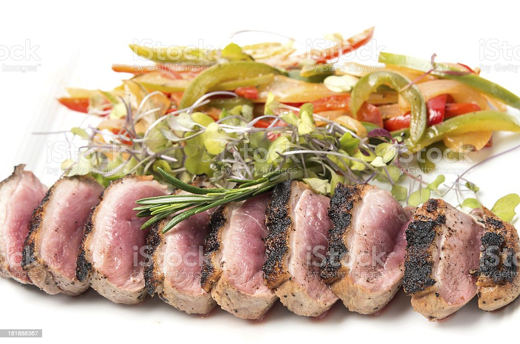 Sliced Grilled Duck Magret royalty-free stock photo