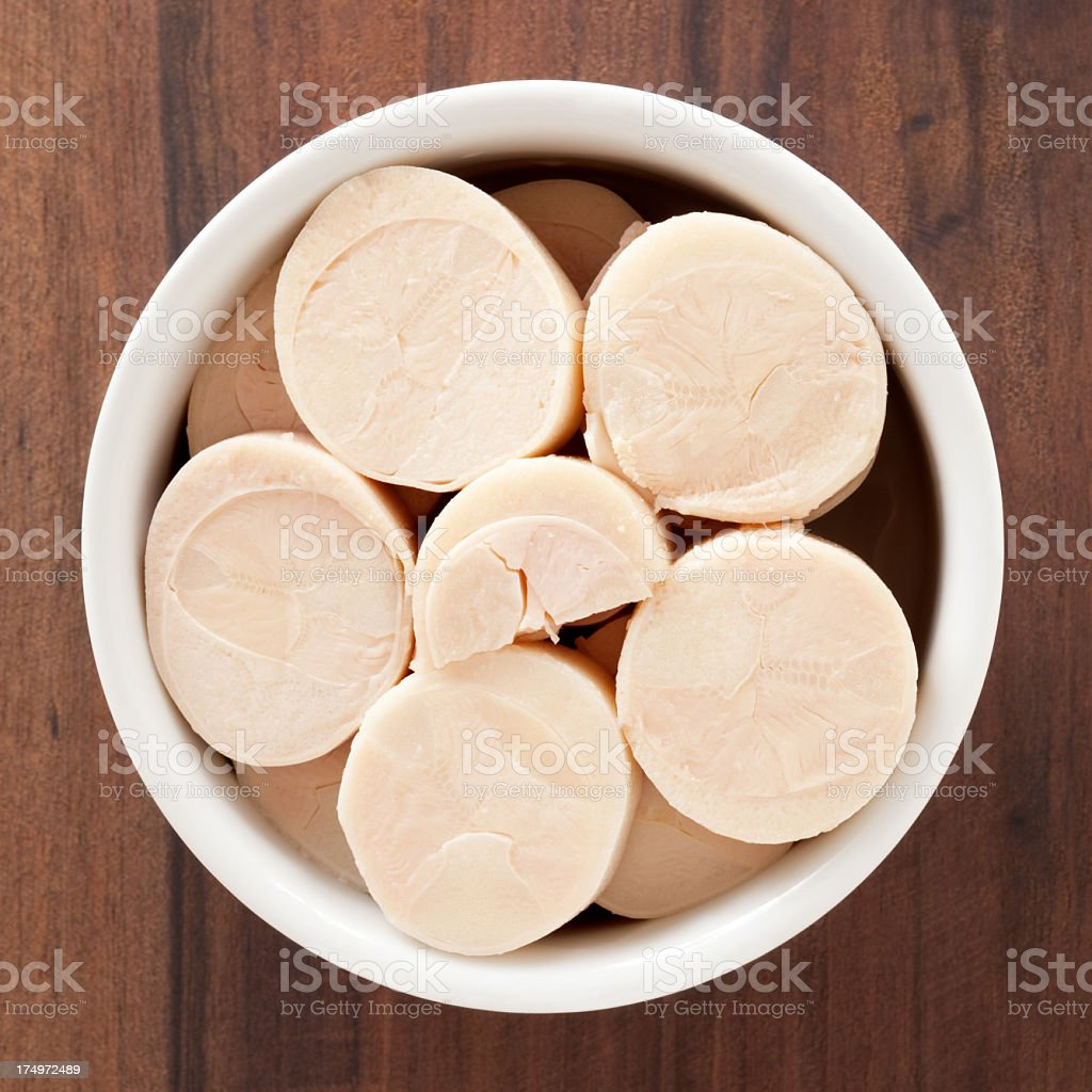 Sliced hearts of palm stock photo