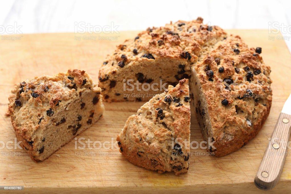 Sliced Irish Soda Bread stock photo