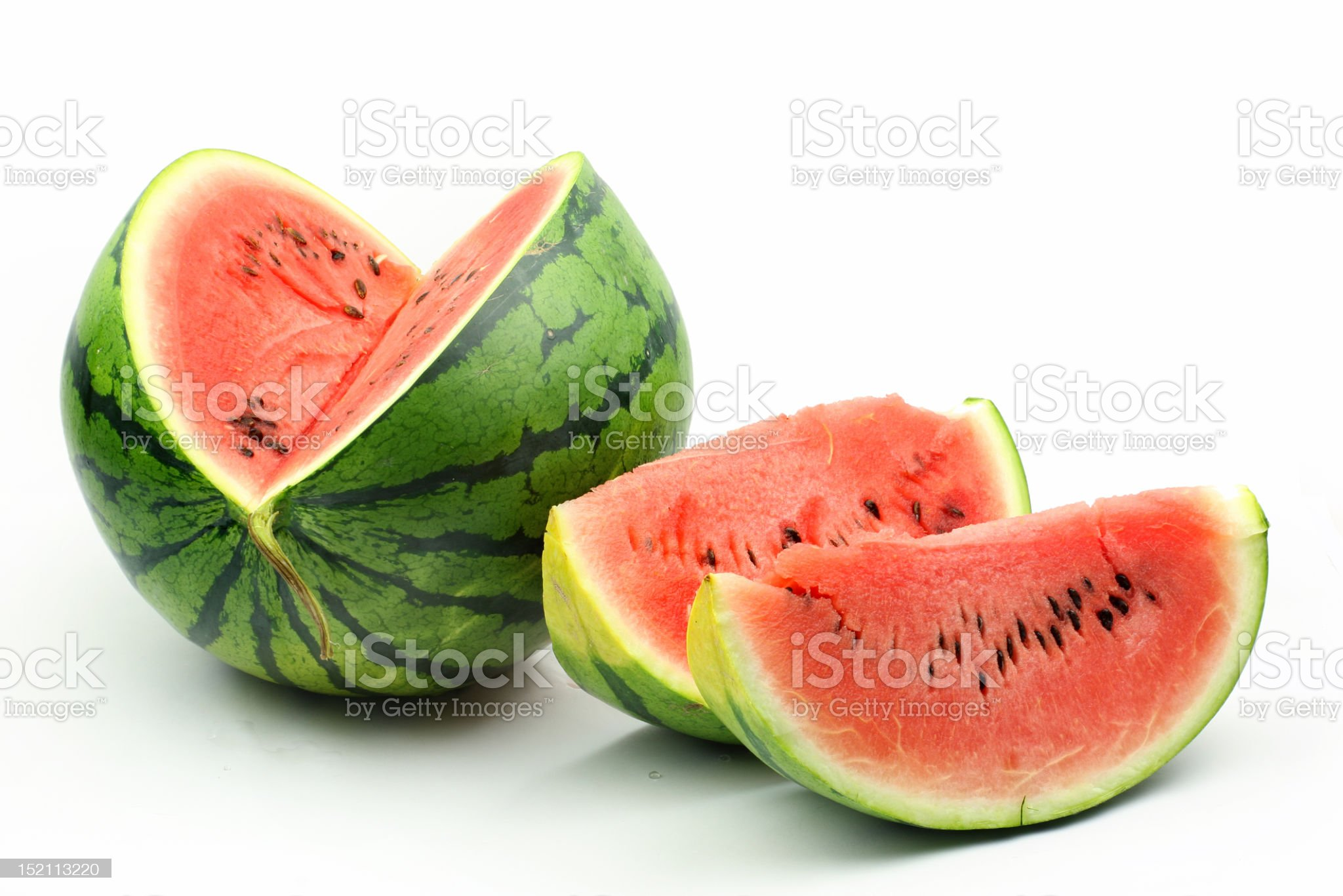 A sliced juicy and fresh watermelon royalty-free stock photo
